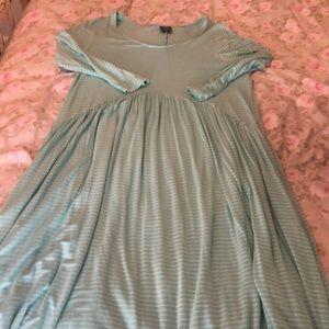 A&D mint striped Oakley dress.